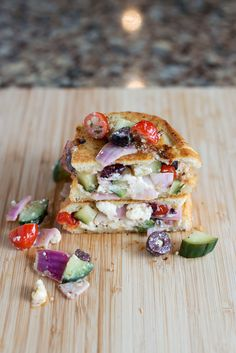 The Greek Grilled Cheese | bsinthekitchen.com #grilledcheese #sandwich #bsinthekitchen