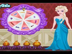Frozen Elsa's Lucky Wheel Shopping - Frozen Games