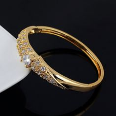 YAZILIND 26K goldene überzogene Zircon schöne Frauen Armband Hochzeit Schmuck…