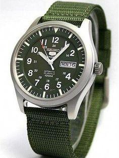 dd4619f08b7e Seiko SNZG09K1 Automatic Military Green Dial Watch  MensFashionRugged