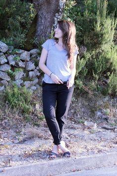 C B C M G - HM tshirt - Zara chino pants - Maje sandals