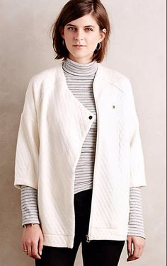 Quilted Ivory Jacket #anthrofave