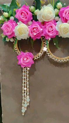 Housewarming Decorations, Home Wedding Decorations, Diy Party Decorations, Flower Decorations, Diwali Diy, Diwali Craft, Flower Crafts, Diy Flowers, Flower Wall Wedding