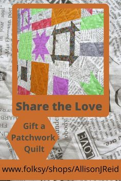 Quilts make lasting gifts that keep on giving warm hugs to the people you love! Positive Stories, New Every Morning, Warm Hug, Grid Design, Patchwork Designs, Sofa Throw, Quilt Making, Autumn, Colours