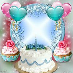 ThatsMimi's Birthday Frames - 2016 May - Happy Birthday! Birthday Card With Photo, Happy Birthday Wishes Photos, Birthday Photo Frame, Happy Birthday Frame, Happy Birthday Wishes Images, Happy Birthday Flower, Happy Birthday Candles, Birthday Frames, Advance Happy Birthday