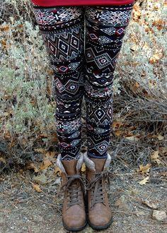Tomahawk Aztec Leggings - Virginia Fields