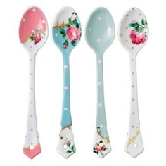 Royal Albert - New Country Roses Vintage Mix Set of 4 Ceramic Spoons