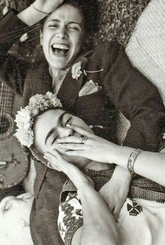 Frida Kahlo & Chavela Vargas I absolutely ADORE this photo. It's so genuine and candid, so happy.