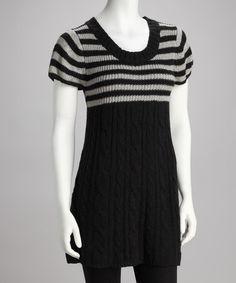 Look at this #zulilyfind! Black & Gray Stripe Sweater #zulilyfinds
