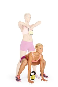 Burn 10 calories per minute: Just bust out the Crank It move with a minute kettlebell workout Health And Fitness Tips, Fitness Diet, Fitness Motivation, Workout Fitness, Fitness Quotes, I Work Out, Get In Shape, Get Healthy, Stay Fit