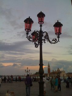 Venice, St. Marks square...love street lamps in European cities but this was particularly belisimo!
