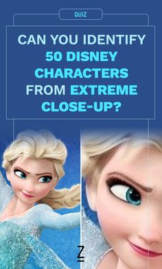 Can You Identify 50 Disney Characters From Extreme Close-Up?
