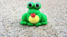 Polymer Clay Frog Charm by LilClaySweets on Etsy