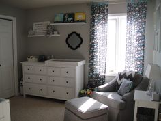 this might be the perfect grey for the kids (boy/girl) room; dolphin grey by behr