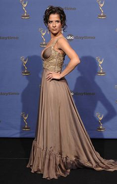Kelly Monaco, co-host during Annual Daytime Emmy Awards - Press Room at Kodak Theater in Hollywood, California, United States. Hollywood California, In Hollywood, Kelly Monaco, General Hospital, Soaps, Smoking, Awards, Fashion Dresses, Smoke