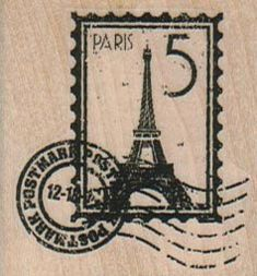 New to pinkflamingo61 on Etsy: postage stamp Eiffel Tower rubber stamp  cushioned stamp art and craft supplies   tateam  Item 17553  Paris France (4.50 USD)
