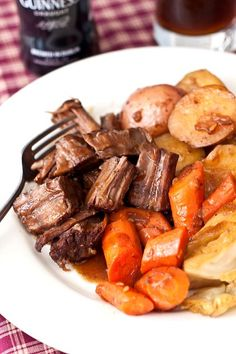 "Pot Roast with Stout Gravy  || ""Needless to say, it since became my standard pot roast recipe. So much more flavor that your  standard Crock-Pot variety pot roast. Not only that, but I feel like it's been improved upon by trying out different beers."" #tideandthyme.com"