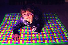Get lost in the patterns and bright colors of the Sensory Ultraviolet Playmat and its brilliant glow when used with a UV light. Skill Tools, Sensory Motor, White Light, Ultra Violet, Rainbow Colors, Kids Playing, Create Your Own, Projects To Try, Glow