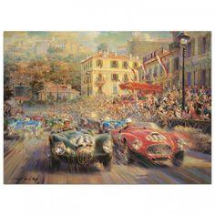 Monaco Grand Prix 1952 - Print by Alfredo de la Maria