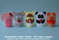 WunderKeys Finger Friends Felt Finger Puppets - Set of 5