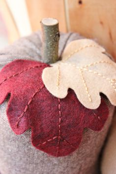 Upcycled Tweed Pumpkin 10 Fall Decor by whimsysworkshop on Etsy