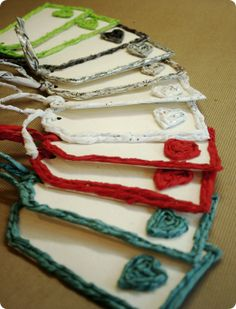HomeSpun Paper Yarn Gift Tags by Me