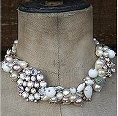 necklace made with vintage pieces