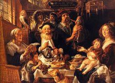Jacob Jordaens 'As the Old Sang, So the Young Pipe' 1640 Musée du Louvre, Paris, France