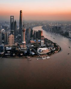The magic that c. Beautiful Places To Travel, Beautiful World, Visit Shanghai, Shanghai Skyline, Skier, City Wallpaper, City Aesthetic, China Travel, City Photography