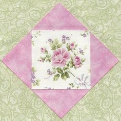 Simply Shabby Chic Y Quilt Kit Fussy Cut Roses Fabric Pink Green Paisley P 6A | eBay