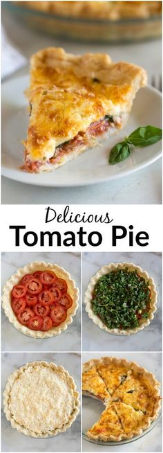 Tomato Recipes A savory summertime Tomato Pie made by layering tomatoes slices, basil and onion in a pie crust, topped with a cheese spread and baked until golden and bubbly. Vegetable Dishes, Vegetable Recipes, Vegetarian Recipes, Cooking Recipes, Healthy Recipes, Baked Tomato Recipes, Zoodle Recipes, Onion Recipes, Keto Recipes