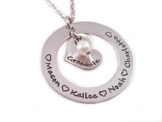 Personalized Name Necklace  Mothers Day  Gift for by Stampressions, $34.00