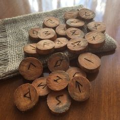 24 wood-burned elder futhark runes - Please read Shipping & Policies for shipping period.
