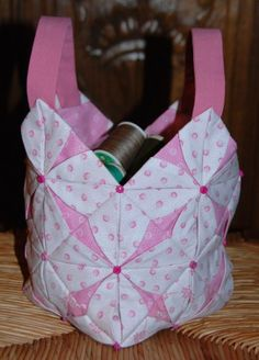 pliage-japonais 0015. Cute little bag. Tutorial in French and English.
