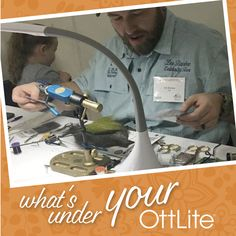 Check out what Lee creates under his OttLite! Tag us or hashtag for a chance to be featured! Healthy Eyes, Light Crafts, Desk Light, Floor Lamp, Study, The Incredibles, Lighting, Create, Nails