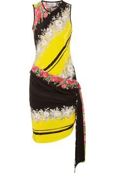 Rose print silk tank dress <3 <3