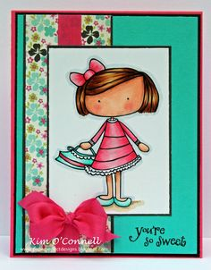 Paper Perfect Designs by Kim O'Connell - dark pink vintage seam binding