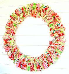 RagHearth rag wreaths (11) - Stunning decor: http://stunninghomedecor.com/2015/11/13/raghearth-rag-wreaths-11/