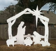 The complete nativity scene outdoor nativity sets and yards outdoor life size nativity scene by ftlproductions on etsy 30000 solutioingenieria Images