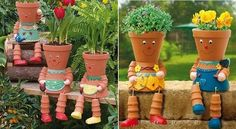 Do you have kids at home? If so they will love to create these DIY Clay Flower Pot People for your garden. Read this article and learn how to make them. Flower Pot People, Clay Pot People, Clay Flower Pots, Clay Pots, Clay Pot Crafts, Diy Clay, Diy Crafts, Diy Art Projects, Garden Projects