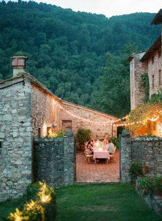 Don't know if this is it, but it looks much like an Agriturismo (where you can stay on a farm in Italy) we stayed in somewhere outside of La Spezia (I think). We sat outside in the courtyard and had a glass of wine in the evening. La Dolce Vita!! LD