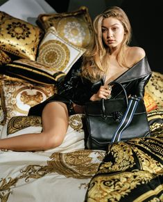 Fine silk bedding - Discover the world of Versace with Gigi Hadid