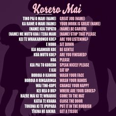 Korero Mai! #Maori