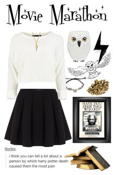 """""""HP Movie Marathon"""" by emiliajf ❤ liked on Polyvore featuring Polo Ralph Lauren, Bling Jewelry, Trend Setters, Yochi, women's clothing, women, female, woman, misses and juniors"""