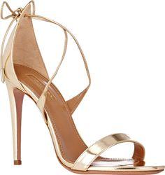 "Aquazzura ""Linda"" Metallic Leather Sandals"