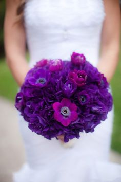 804aedd5f404 Bouquet Inspiration  Vibrant purple adds a beautiful pop of color to your  wedding day look