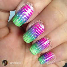 repost via @instarepost20 from @mary123mon Thrilled with how this turned out. Used the #nightinvegas cremes from @pipedreampolish and nailvinyls form @teismom #pipedreampolish #neon #glitter #nailart #manicure #makeup #notd #nailartappreciation @nailitmag #nailartswag #nailgasm #nailpolishjunkie #livelifepolished #nailartwow #instanails #caturday fashion #nailartdesign #love #polish #swag #style #nailartheaven #instarepost20 www.pipedreampolish.com