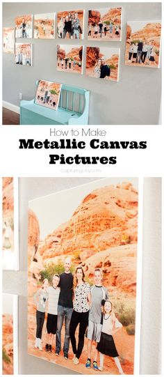 how to hang pictures on a big wall