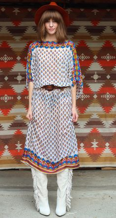 Vintage 1970s Boho Indian Dress by NeonNavajo on Etsy