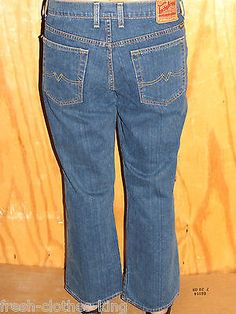 LUCKY BRAND Short Cropperd Jeans New Womens $88 Blue Relaxed Denim Size 14